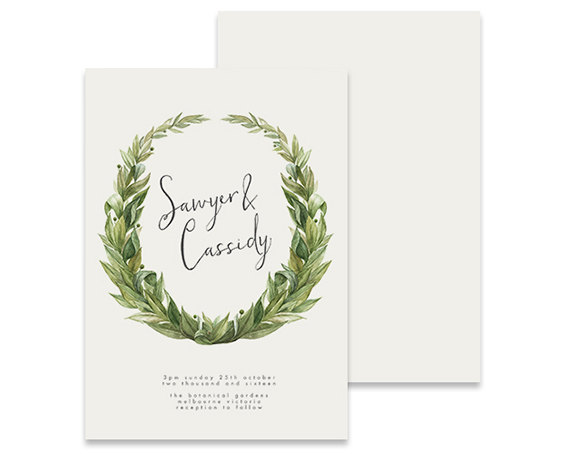 زفاف - Wreath Wedding Invitation