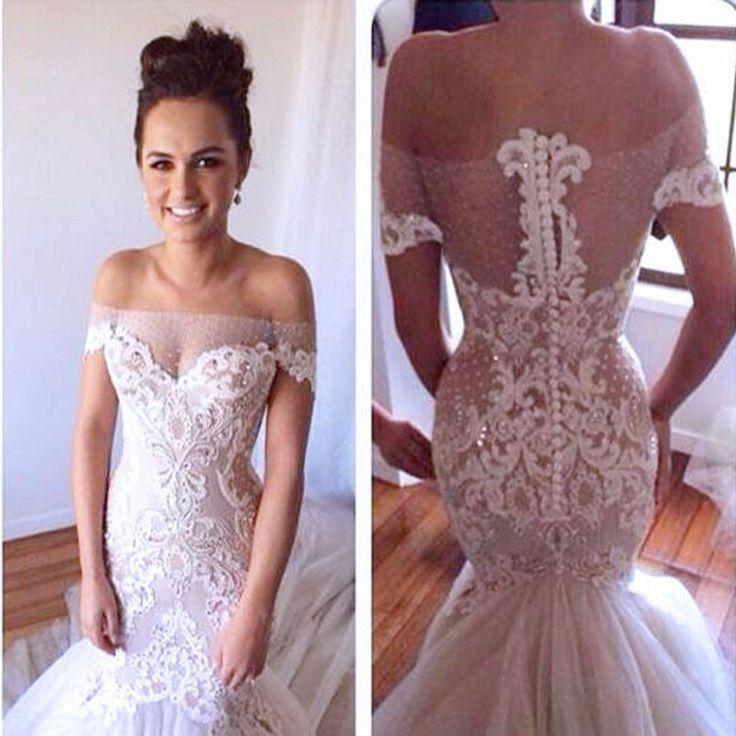 Свадьба - High Quality Off Shoulder Sexy See Through Mermaid Lace Wedding Party Dresses, WD0061 - Custom Size / Picture Color
