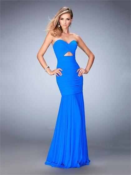 Mariage - Elegant with Sweetheart Cutout Below bust Beaded Prom Dress PD3321