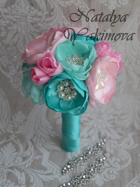 زفاف - Bridesmaid's bouquet, Wedding Toss bouquet, mini bouquet,silk flowers, Unique Wedding Bridal Bouquet, Wedding Accessories, Wedding set