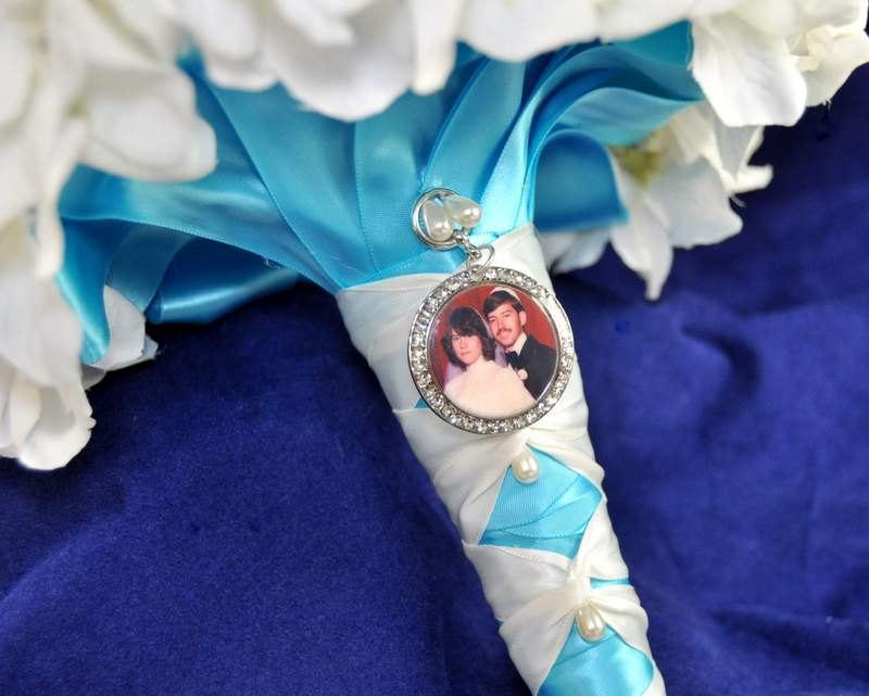 زفاف - Wedding Bouquet charm, LARGE CIRCLE Charm, Bridal Bouquet Charm with custom photo