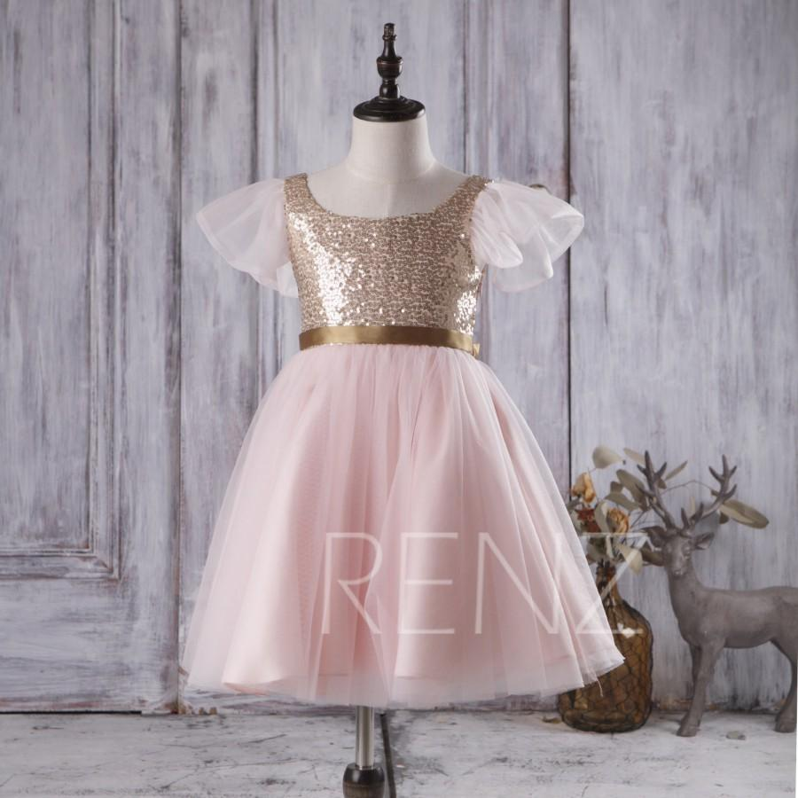 2016 pink mesh junior bridesmaid dress gold sequin flower girl 2016 pink mesh junior bridesmaid dress gold sequin flower girl dress scoop neck tutu puffy dress a line baby dress fk299 ombrellifo Gallery