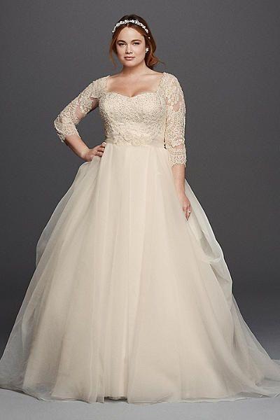 Hochzeit - For The Plus Size Bride: Oleg Cassini For David's Bridal