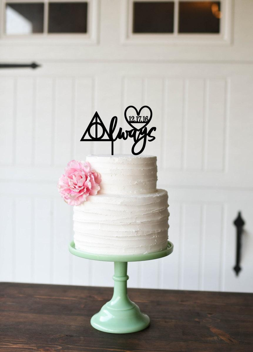 Harry Potter Inspired Cake Topper - Always Cake Topper With Wedding ...