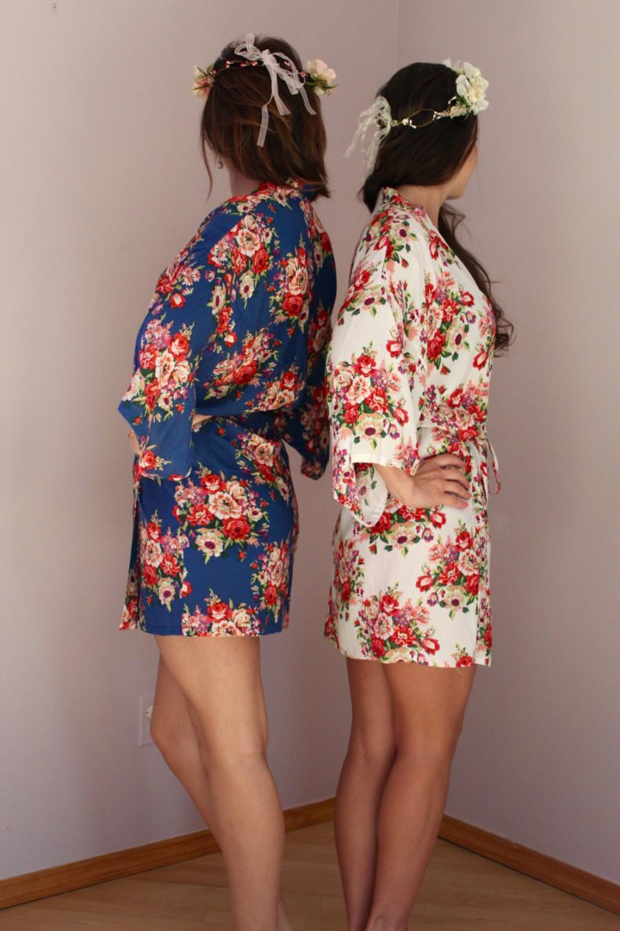 Свадьба - ON SALE 8 Colors, Bridesmaid Robes, Set of 8 Bridesmaid Satin Robes, Kimono Robe, Fast Shipping from New York