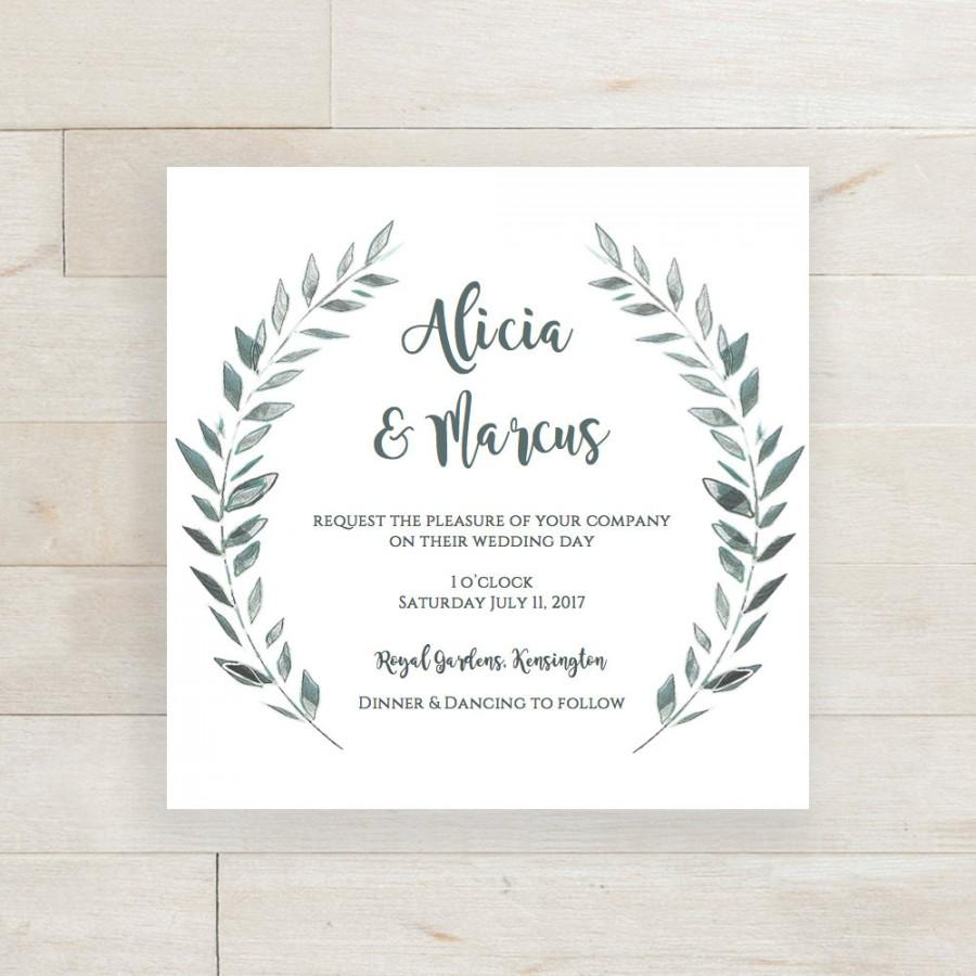Wedding Invitation Template Download Rustic Printable Invitation - Wedding invitation templates: wedding invitation template download