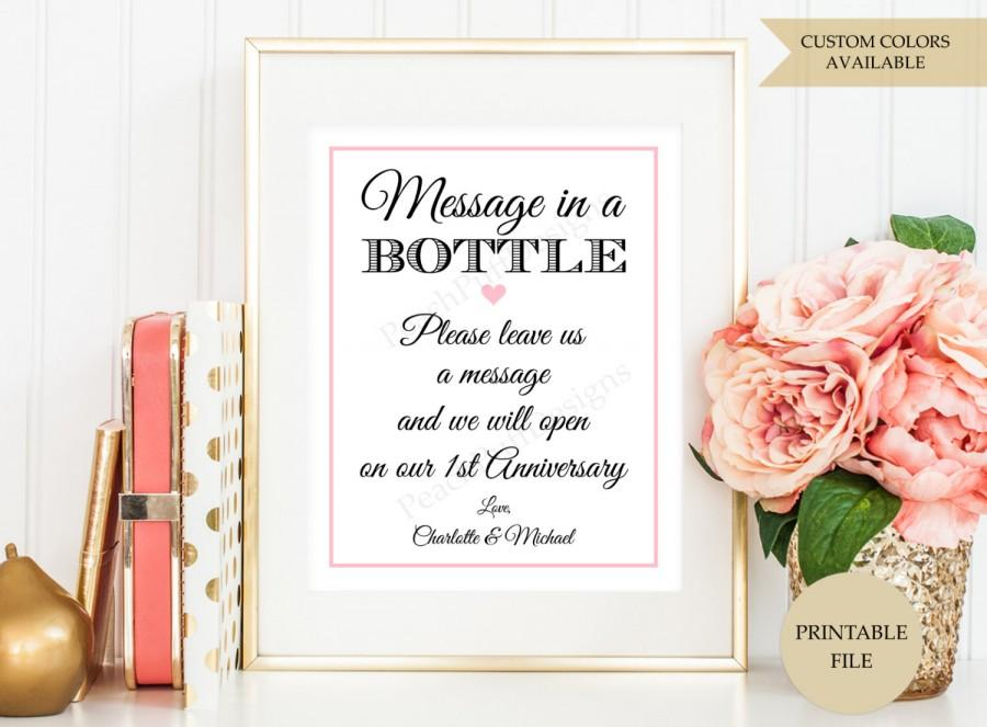 Message In A Bottle Sign (PRINTABLE FILE) - Message In A Bottle ...