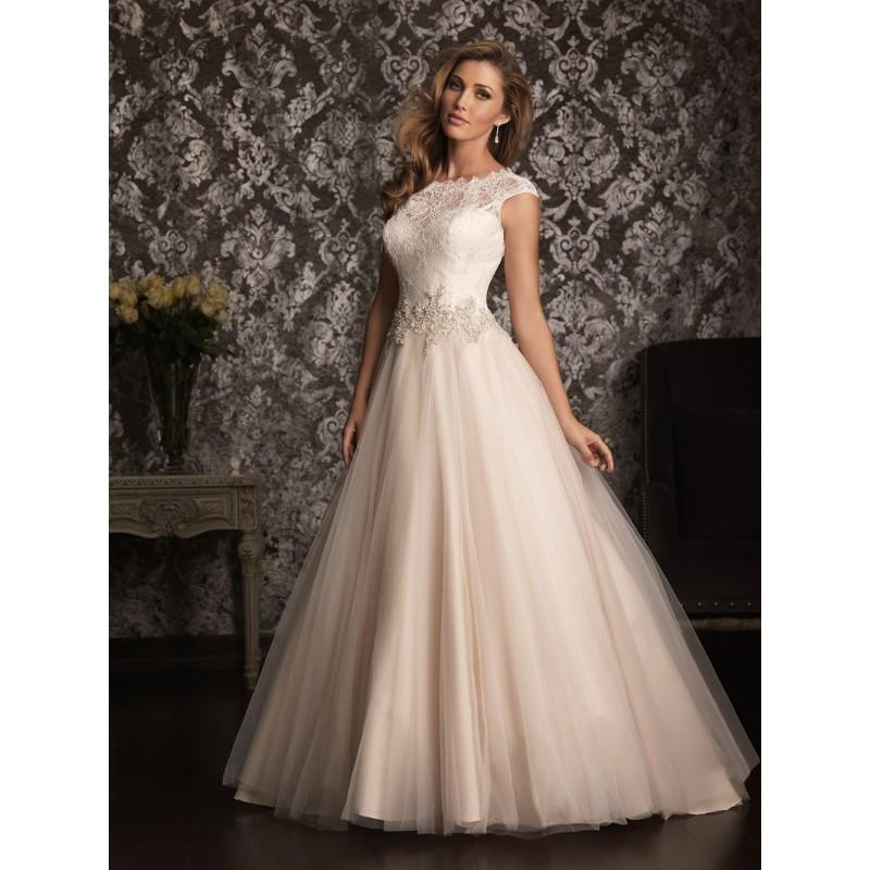 Allure Bridals 9022 Cap Sleeve Lace Ball Gown Wedding Dress Crazy