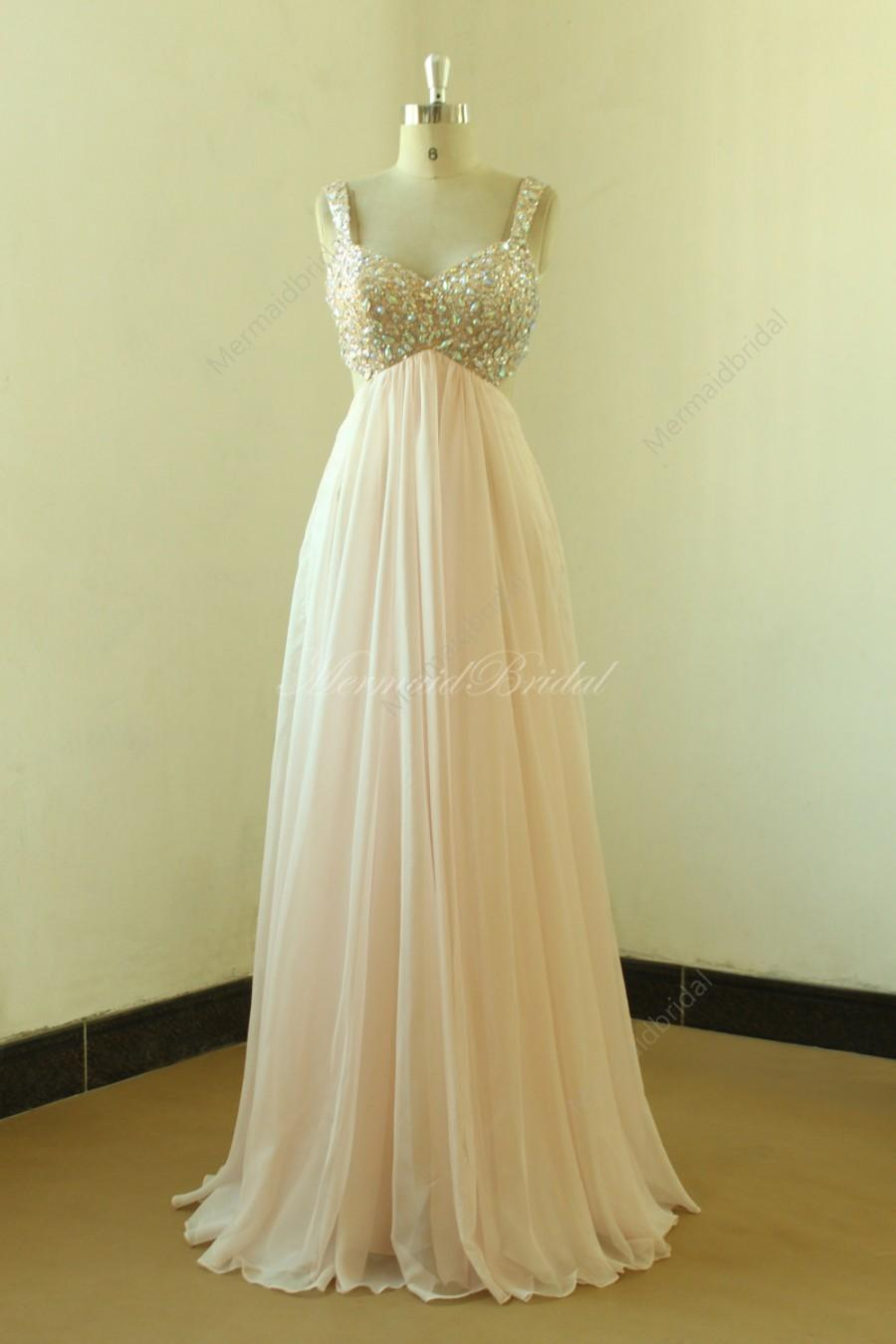 Свадьба - Backless sexy blush/pale pink beading prom dress,homecoming dresses