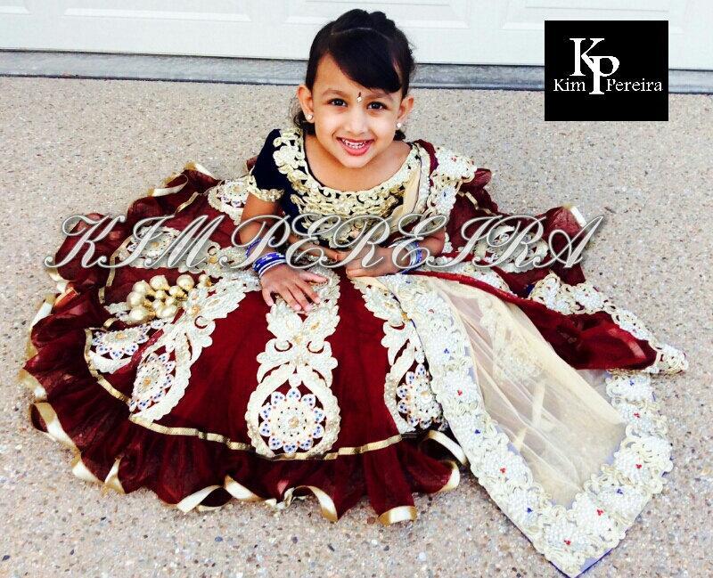Mariage - Lehenga Choli Dupatta for Kids