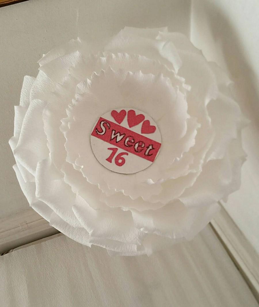 زفاف - Sweet 16 Giant paper flower, Flower decoration, Personalized Flower, Pink Bridesmaid Gift  Keepsake Gift, Flower Arrangement  Pink Wedding