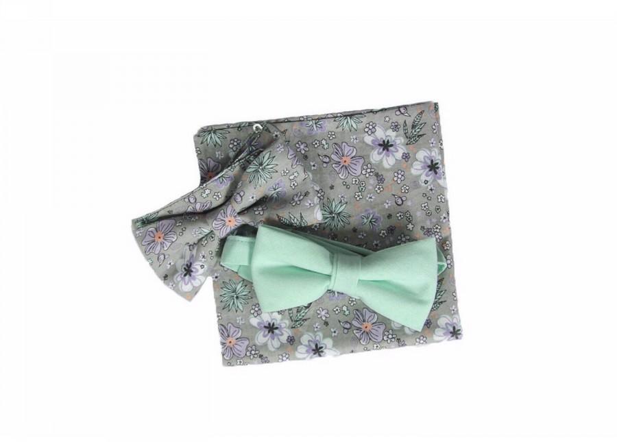 Hochzeit - Florent - Mint Green Men's Pre-tied Bow tie or Self-Tied Bow Tie