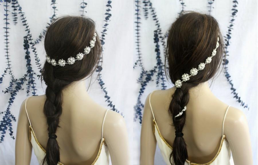 Mariage - Bridal headband, Bridal Headpiece, Bridal Hair Jewelry, Crystal Hair Accessory, Crystal Headband
