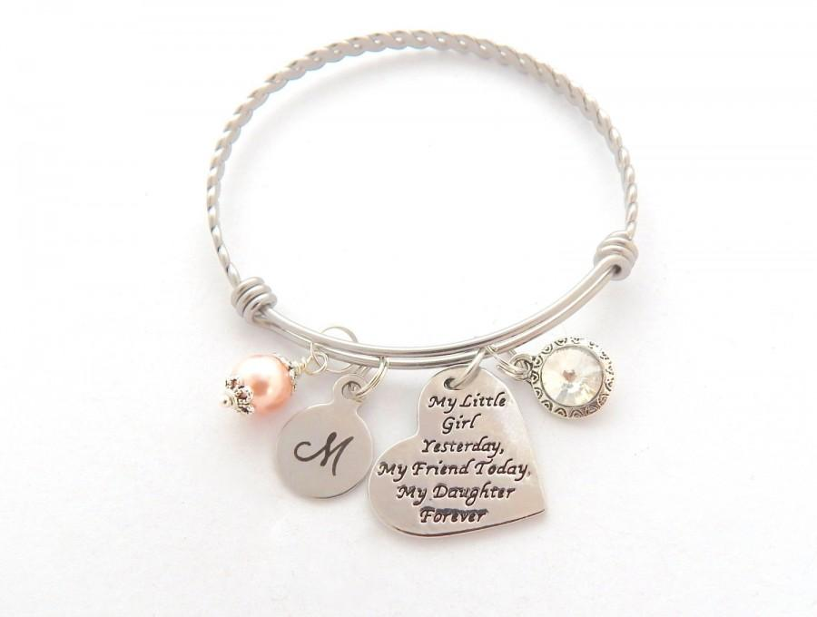 bracelet mother gift girl daughter my from bride wedding media for little charm