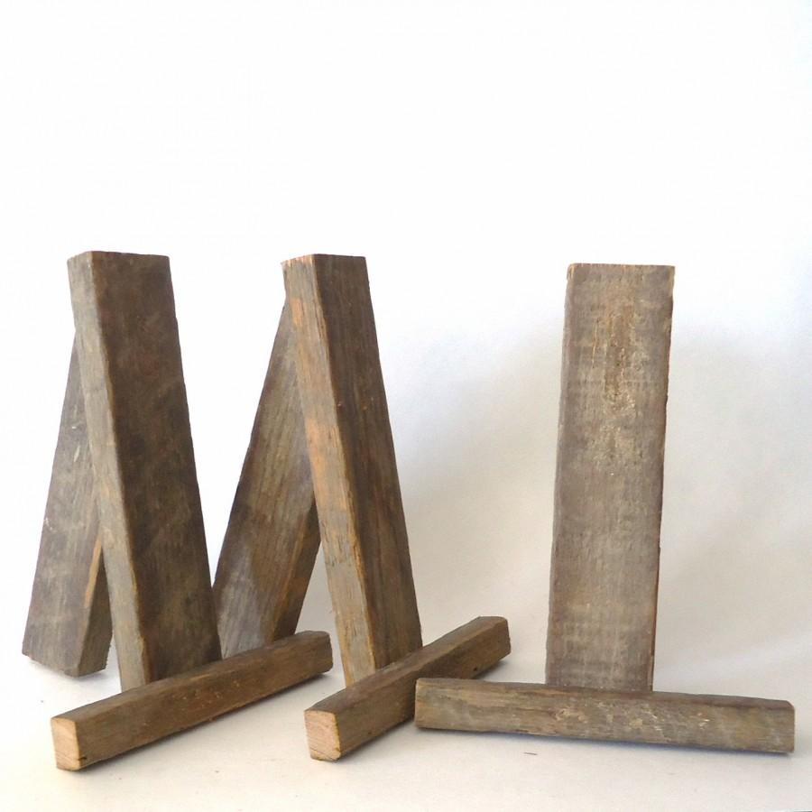 Mariage - rustic tabletop easels, wedding signs stands, party supplies, display, wedding decorations, party decorations, small easels