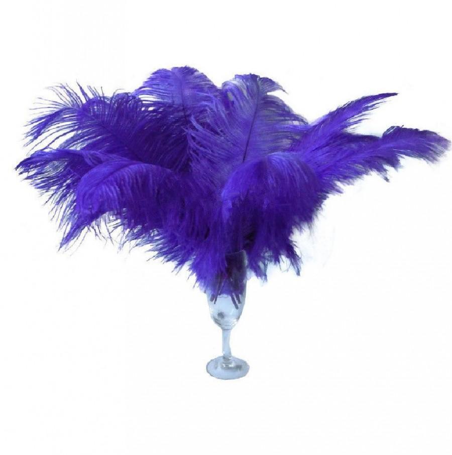 "Mariage - 10 Pcs 8-10"" 10-12"" 12-14"" 14-16""Purple Ostrich Feather Plume 14-16"""