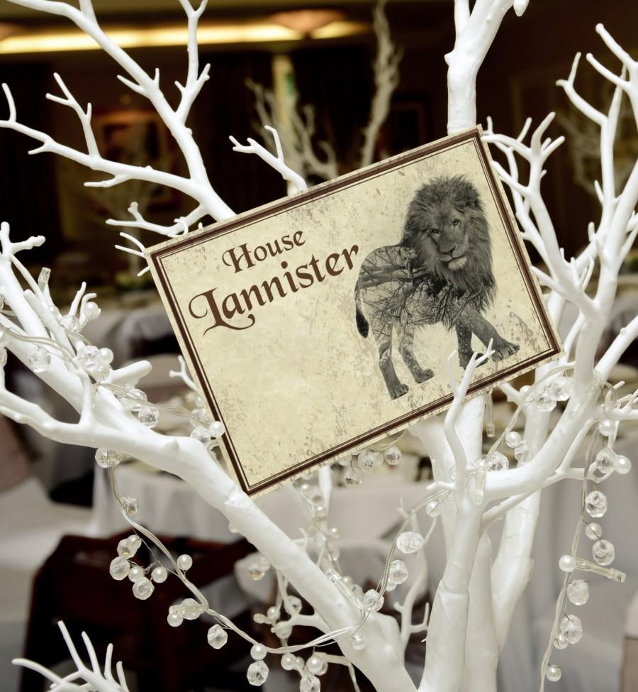 Свадьба - Game of Thrones Wedding Party Table Names Numbers (Individual)