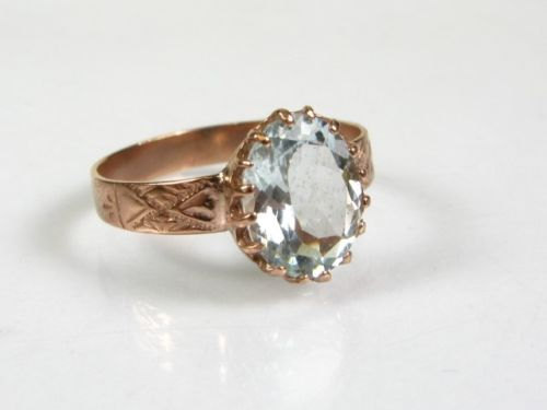 Mariage - Christmas Sale,14K Rose Gold 2ct Aquamarine Ring,Engagement Ring,Aquamarine Ring,Christmas For Her,Gifts For Wife