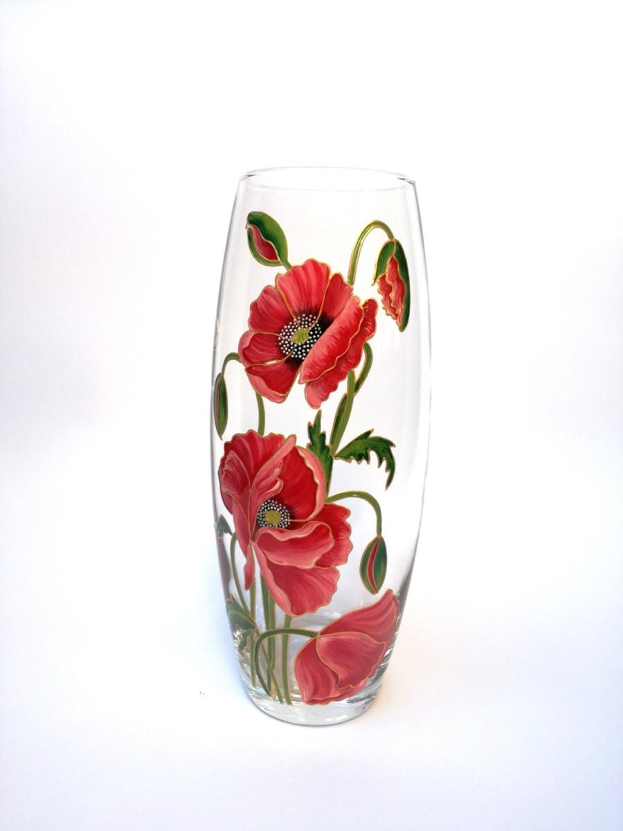 Anniversary Gift For Wife Hand Painted Vase Colorful Glass Home