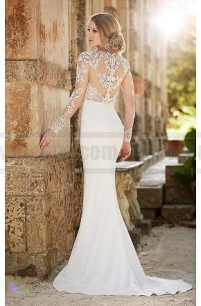 Mariage - Martina Liana Lace illusion Sheath Wedding Dress Style 690