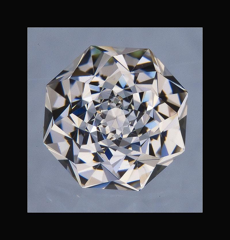 زفاف - White Sapphire ROSE PETAL Cut Diamond Alternative Engagement Stone, Sapphire Engagement stone, Unique Engagement Ring