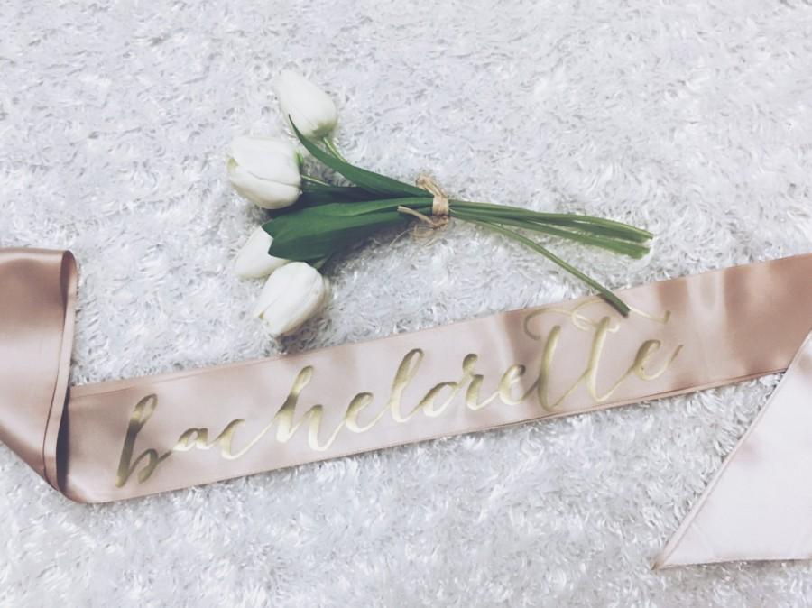 Wedding - Bachelorette Sash. Bride gift. Bridal shower gift. Bachelorette gift