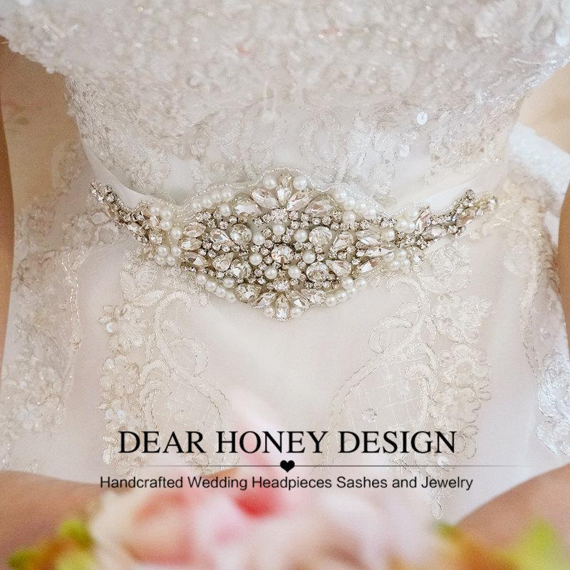 Свадьба - Sunflower Bling Bling Bridal Belt
