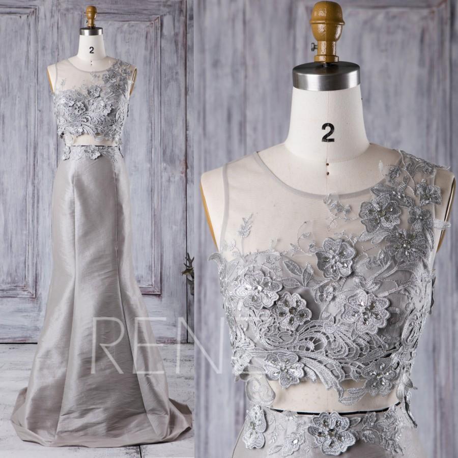 gray taffeta dress a line
