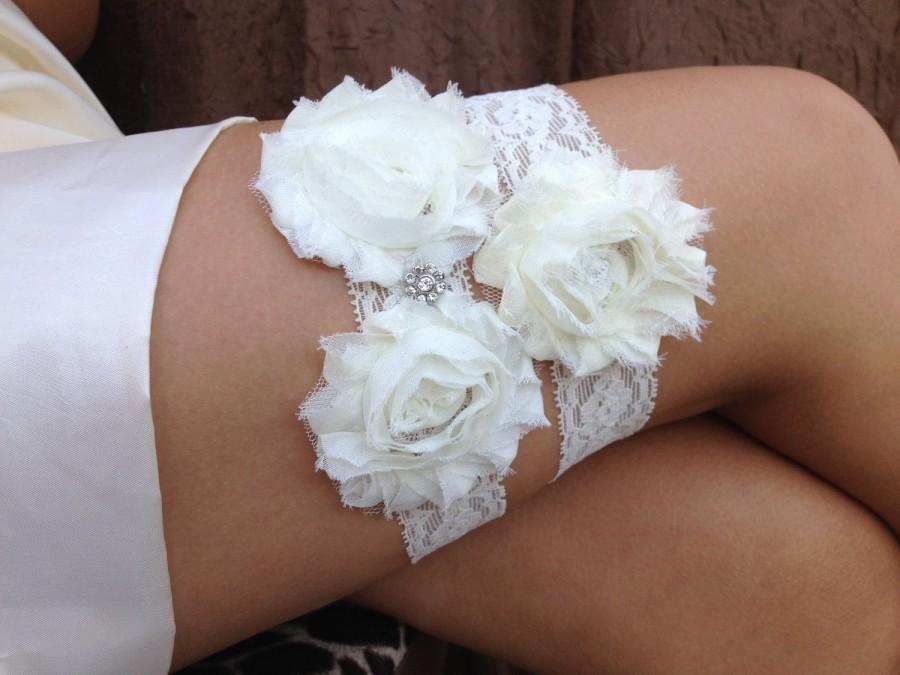 Wedding - Ivory Wedding Garter Set, Bridal Garter Set - Ivory Garter, Keepsake Garter Toss Garter, Ivory Wedding Garter, Ivory Wedding Garter Belt
