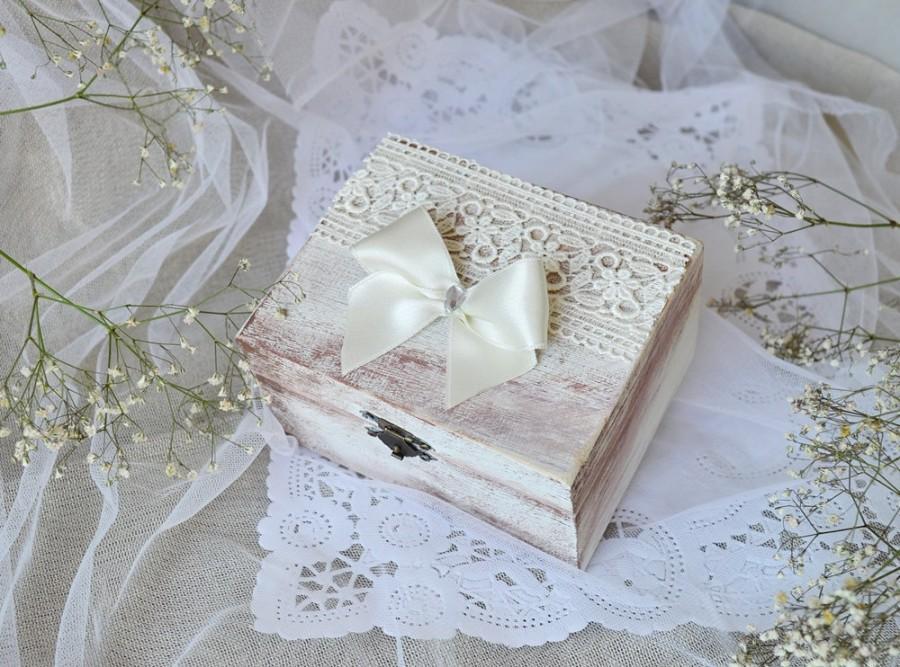 Rustic Wedding Ring Box Personalized Wedding Ring Bearer Box