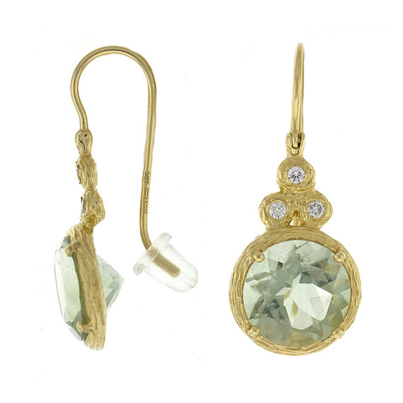 Green Amethyst \u0026 Diamond Textured Dangle Earrings 18k Yellow Gold Anniversary Gifts for Women Christmas Gifts for Her Gemstone Earrings  sc 1 st  Weddbook & Green Amethyst \u0026 Diamond Textured Dangle Earrings 18k Yellow Gold ...