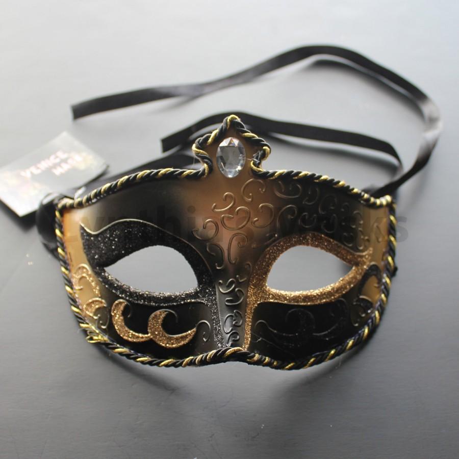 Boda - Black pvc Venetian Masquerade Mask for wedding dancing parties home decor, 8A2A,  SKU: 6C12