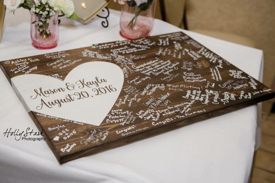 Mariage - Alternative wedding guest book, wood guest book, wedding decor, guest book