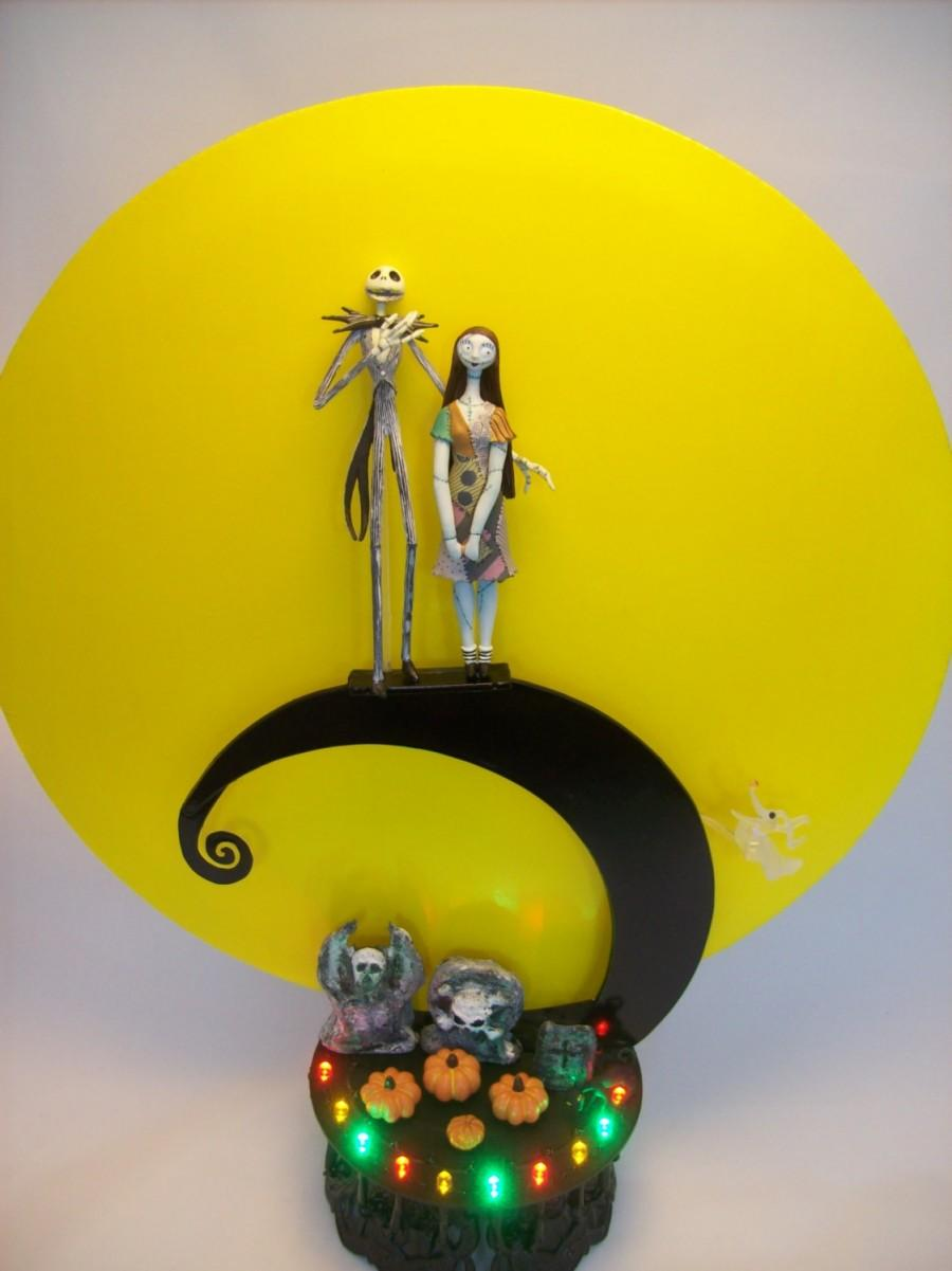Nightmare Before Christmas Jack And Sally Spiral Hill Bride Groom ...