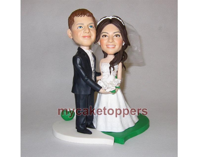 Mariage - Romentic wedding Cake toppers, bride and groom, engagement cake toppers, unique cake toppers, bridel shower