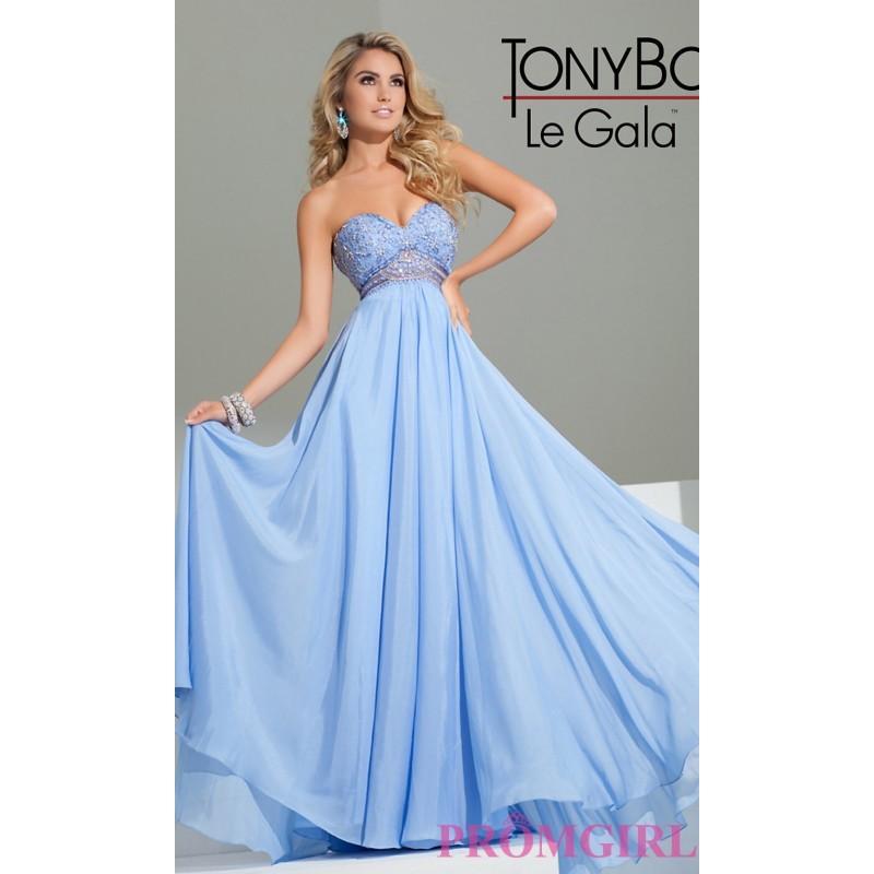 زفاف - Strapless Sweetheart Floor Length Dress by Tony Bowls - Brand Prom Dresses