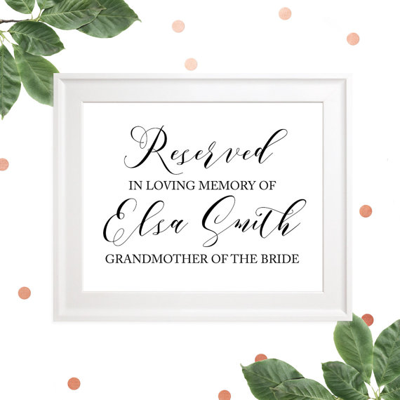 Boda - Reserved Custom Memorial Sign-In loving memory of Wedding sign-For Lost Loved One Sign-Rustic Wedding Signage-Memorial Plaque