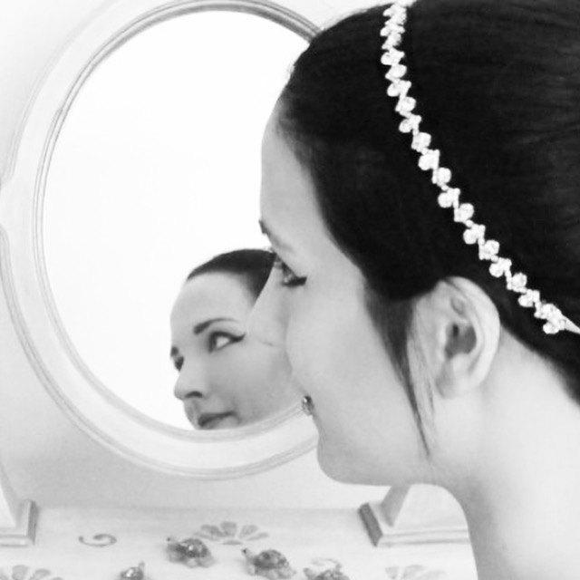 Mariage - Bridal  Headband  Rhinestones Beaded  Wedding Accessories Headpiece Head Piece Silver color