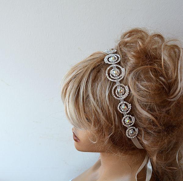 Свадьба - Wedding Hair Accessories, Rhinestone Headband,  Wedding Headband, Bridal Headband, Bridal Hair Accessory