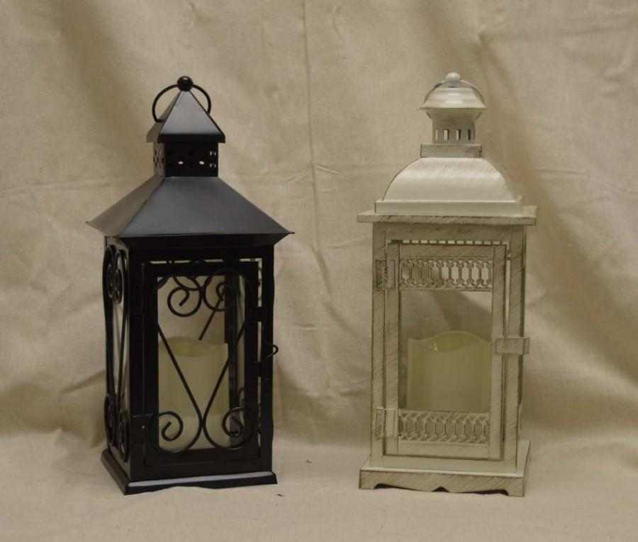 Wedding 14 Inch Lantern Centerpiece Vintage Antique Ivory & Gold ...