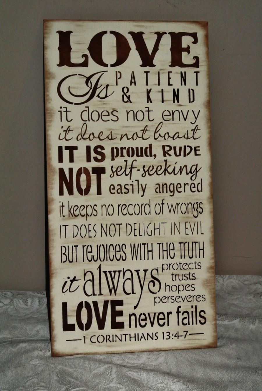 love is patient love is kind corinthians