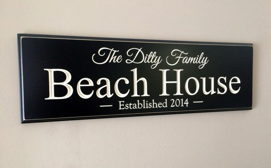Mariage - Personalized Sign, Carved Lake House Beach House, ...The Difference is in the Detail...8x24