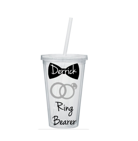 Wedding - Ring Bearer Tumbler, Ring Bearer Cup, Ring Bearer Gift, Personalized Ring Bearer Tumbler, Ring Bearer Tumblers, Wedding Party Gift