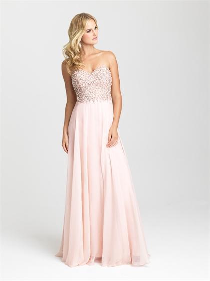Hochzeit - A-line Strapless Beaded Chiffon Prom Dress PD3198