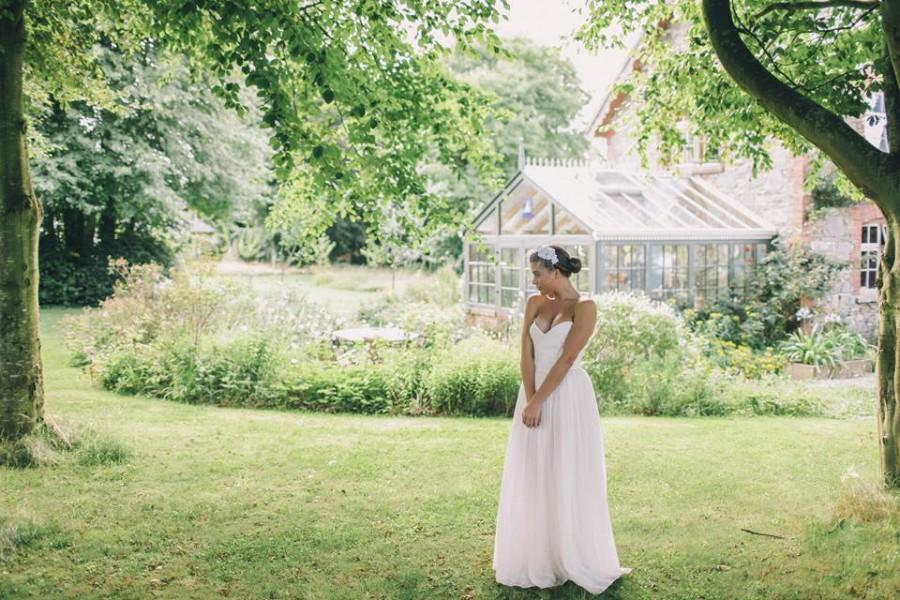 زفاف - Elsa - Romantic Silk Bohemian Wedding Dress