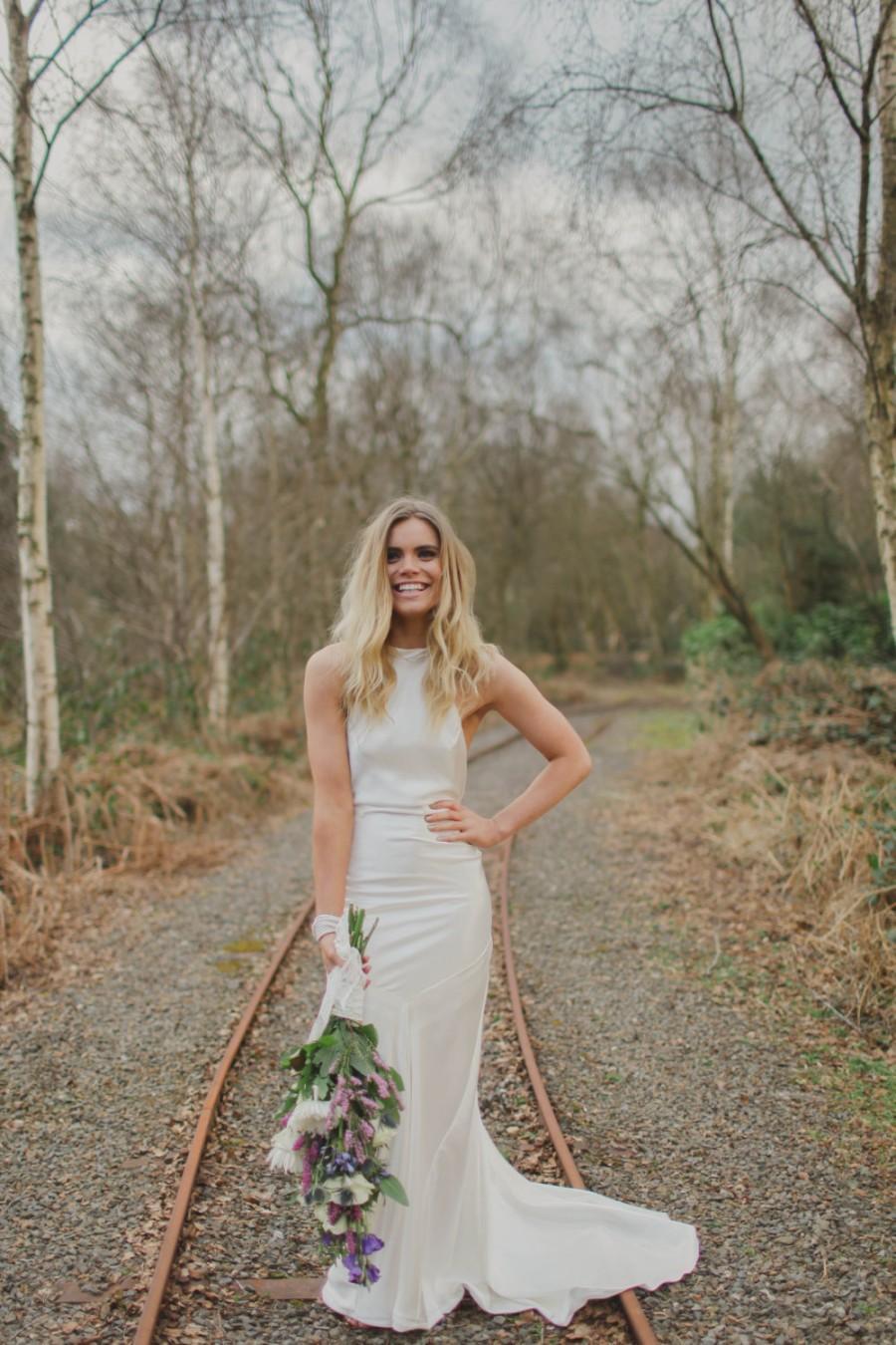 Mariage - Ember - Bohemian Luxe Silk Charmeuse Wedding Dress