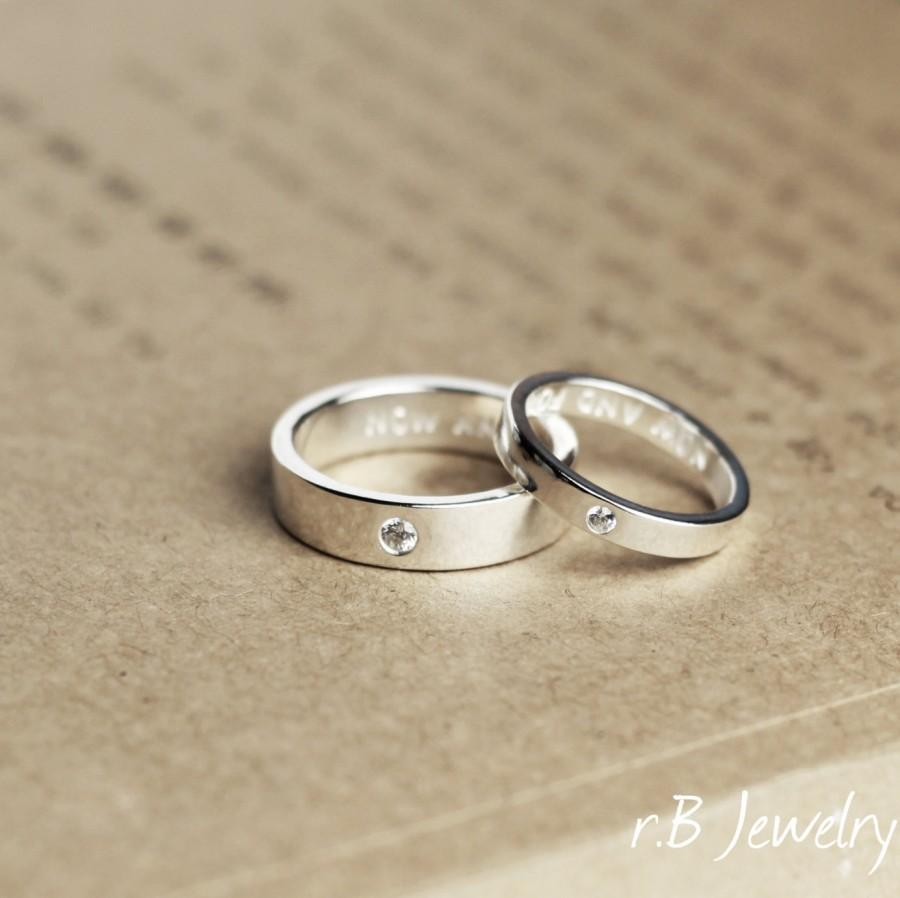 Matching Promise Rings, His And Her, Anniversary Gift, Gift For ...