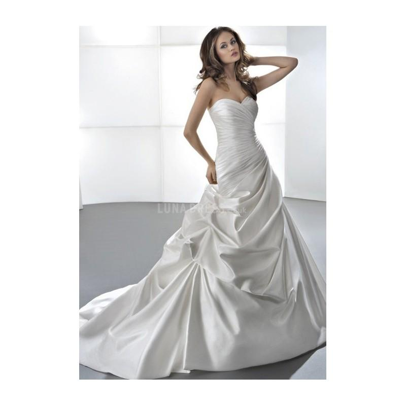 Wedding - Elegant Fit N Flare Taffeta Floor Length Sweetheart Wedding Dress With Pick ups - Compelling Wedding Dresses