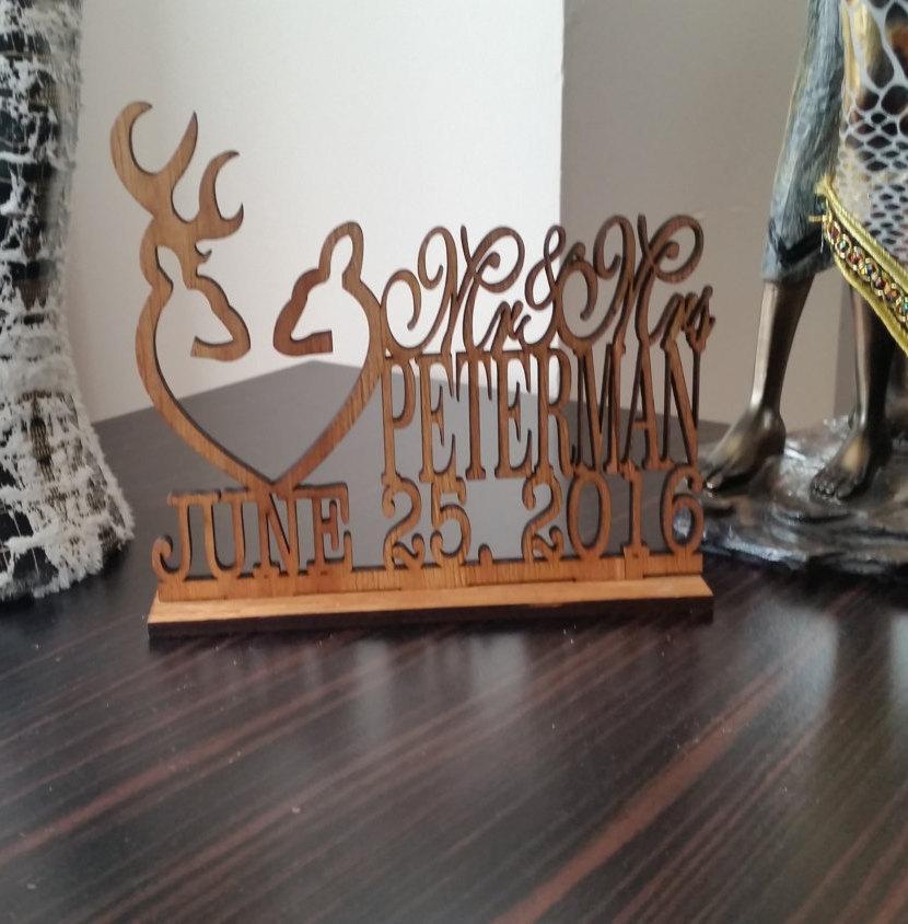 Свадьба - Deer Wedding Cake Topper - Country Wedding Cake Topper - rustic wedding cake topper - shabby chic- redneck - cowboy - outdoor - western