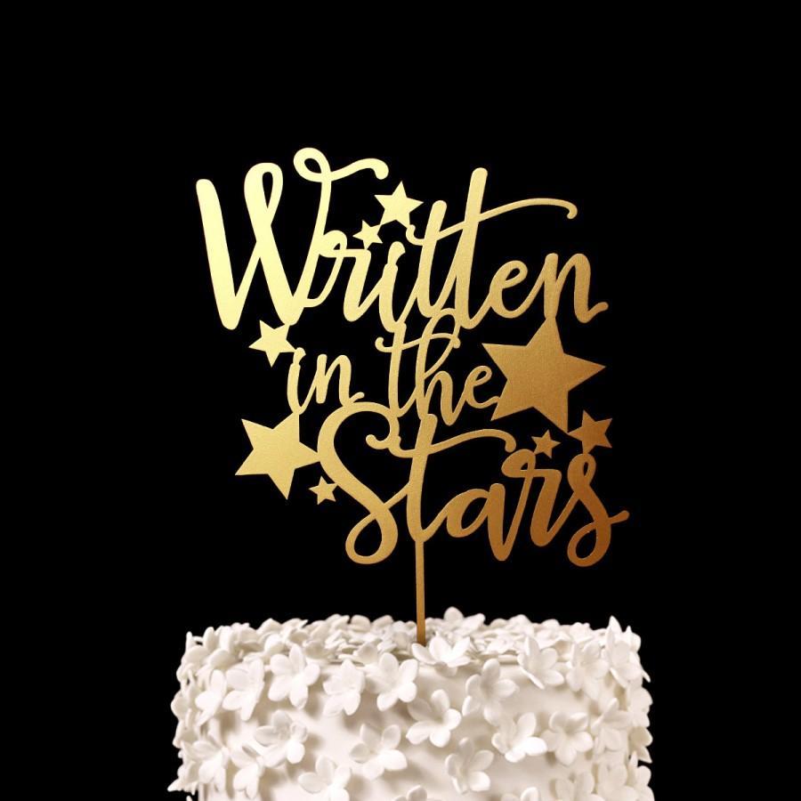 Mariage - Written in the Stars Wedding Cake Topper -  Keepsake Wedding Cake Toppers